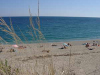 Calm beach and sea in Liguria