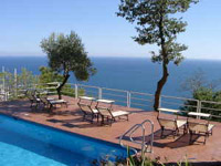 Pool of an holiday rental directly at the sea in Liguria