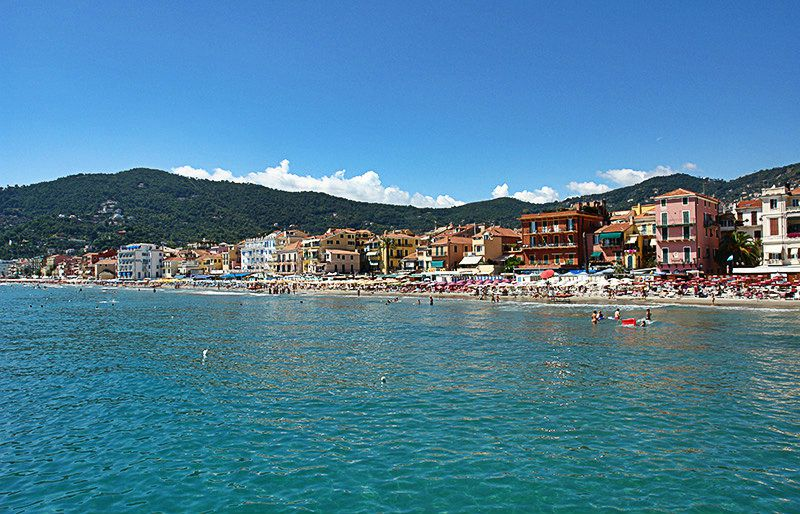 A breathtaking panoramic view of Alassio