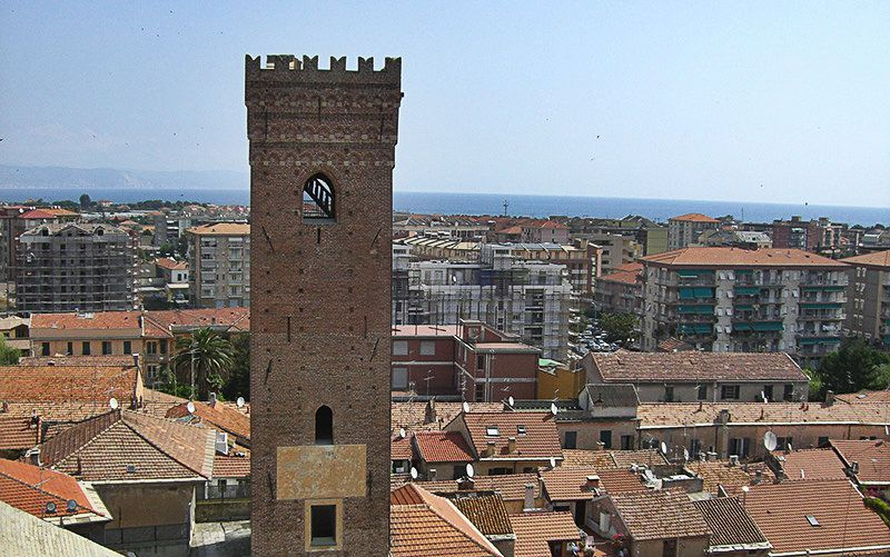 View of the town center of Albenga