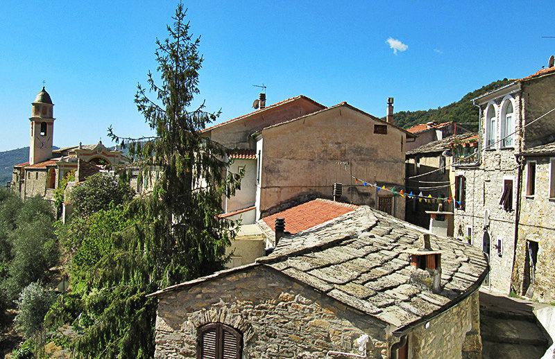 A beautiful view of the houses in Molini di Triora