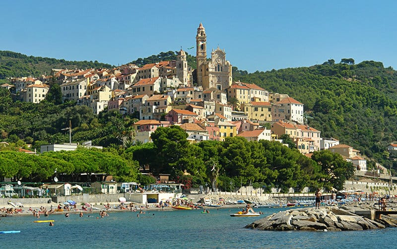 View of wonderful holiday resort Cervo