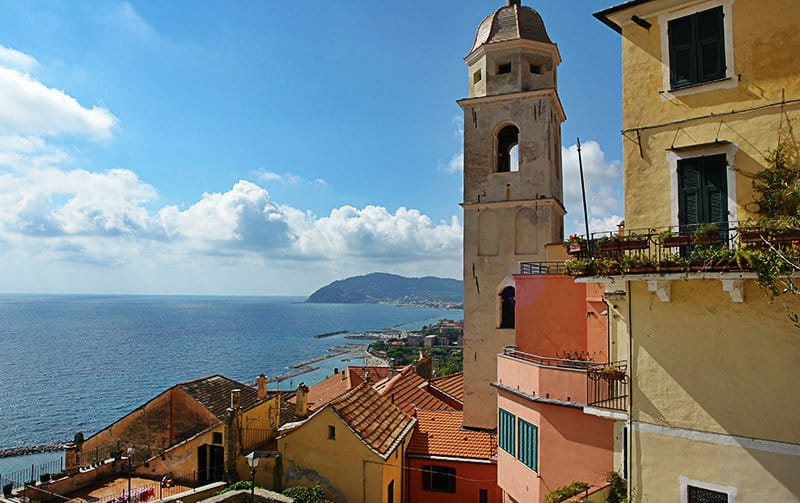 Panoramic view of Cervo