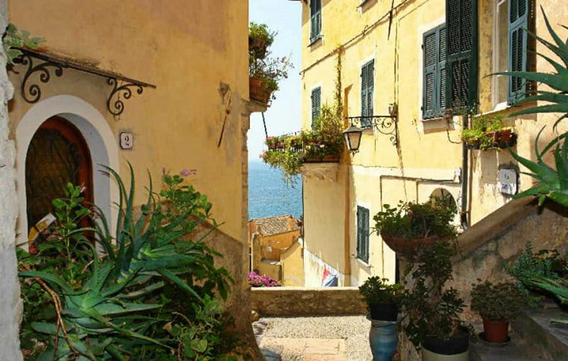 The magical city of Cervo in Liguria