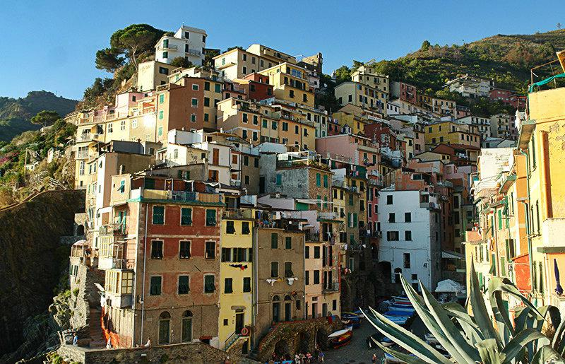 Colorful houses of Riomaggiore in Cinque Terre