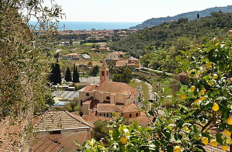 A wonderful view over Diano San Pietro village