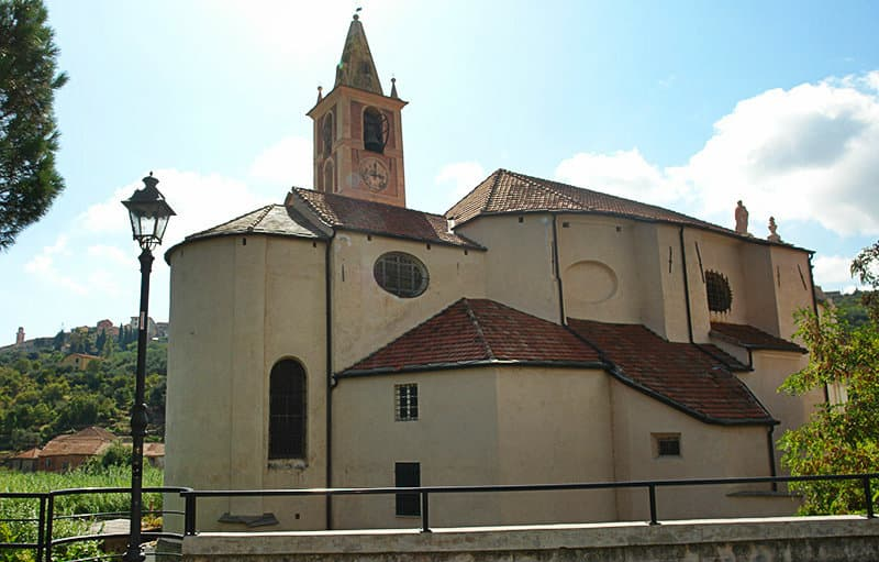 A church in Diano San Pietro, Liguria