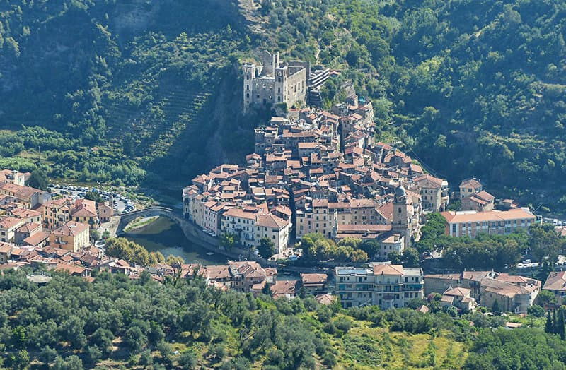 A view of a beautiful holiday resort Dolceacqua