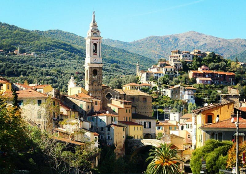 A view of a holiday destination Dolcedo in Liguria