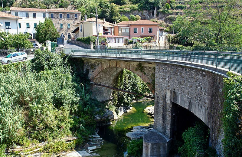 The bridge of Dolcedo is one of the tourist attractions