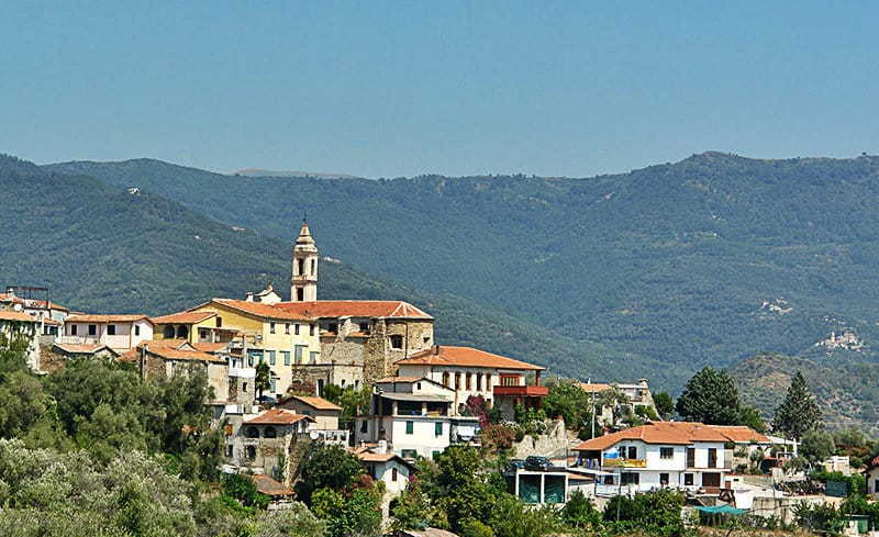 The panoramic view of Dolcedo in Liguria