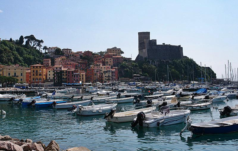 The beautiful port of Lerici in Liguria