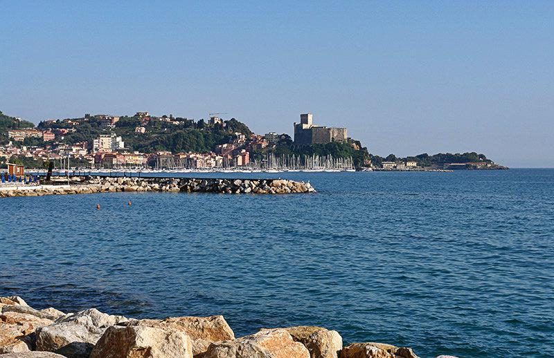 A beautiful view of the sea in Lerici