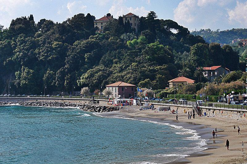 A beautiful sandy beach in Lerici