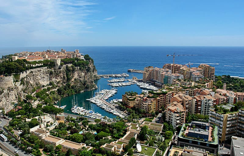 View of Monaco in Cote d'Azur, France