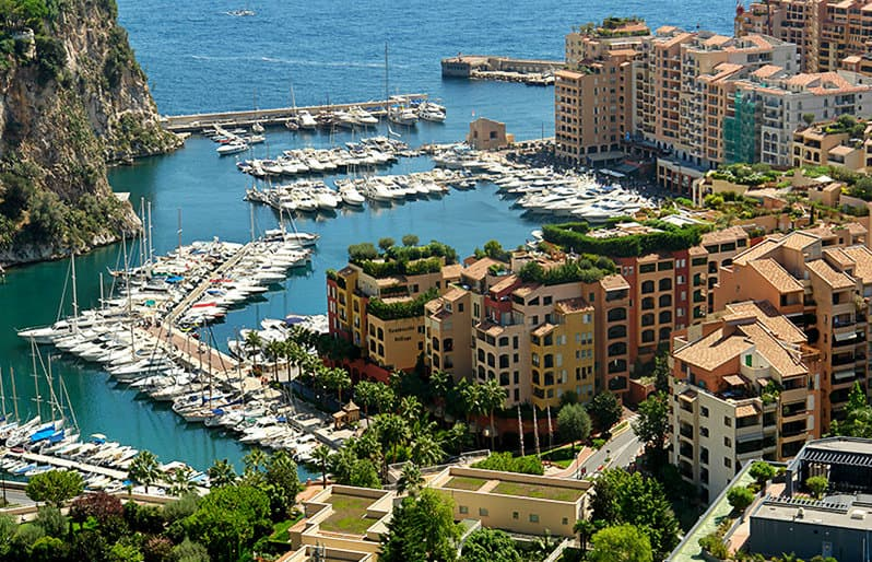 A beautiful port of Monaco in Cote d'Azur