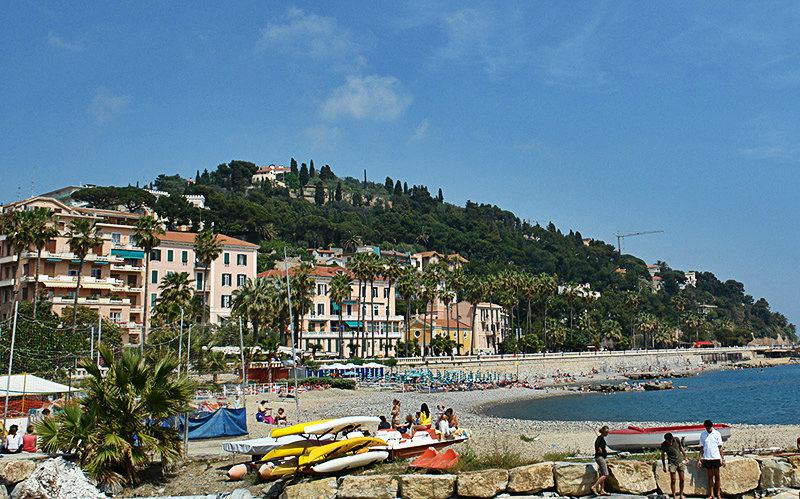 A beautiful view of a holiday destination Oneglia in Liguria