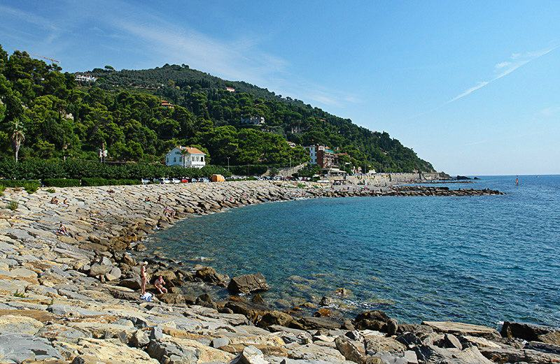 A view of a beach in Imperia, Oneglia