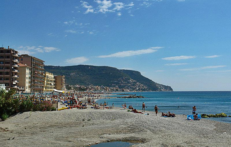 Breathtaking view of a beach in Pietra Ligure