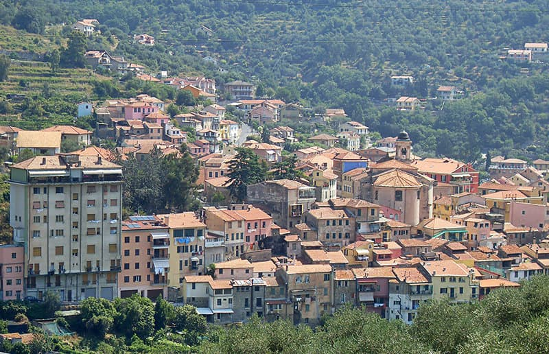 A beautiful view of the old town of Pontedassio