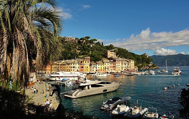 Picturesque view of the holiday destination of Portofino