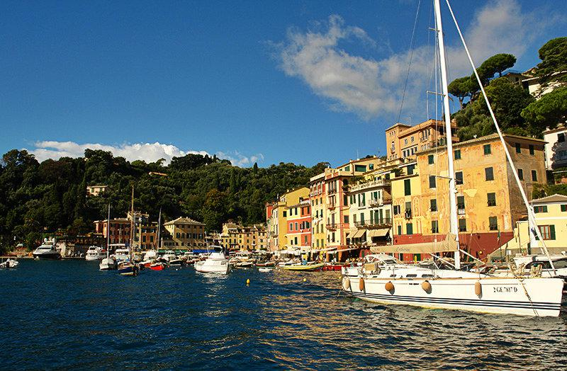 The beautiful port of Portofino