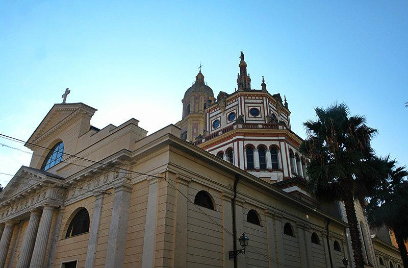 A view of a beautiful church in Rapallo