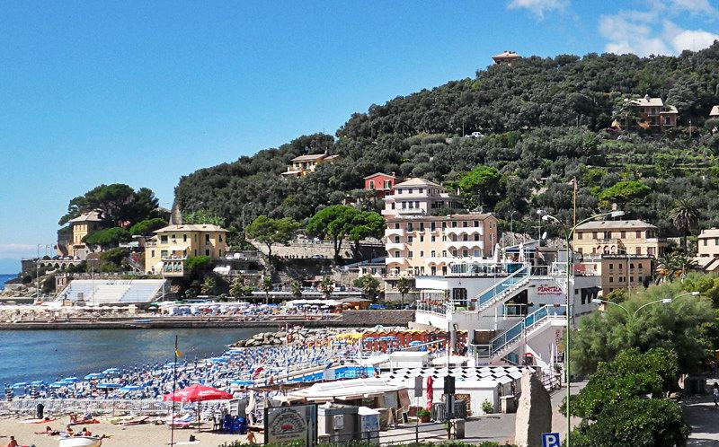 A beautiful view of Recco and its beach