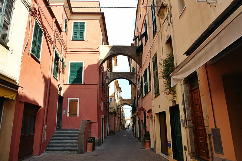 A romantic street of Riva Ligure