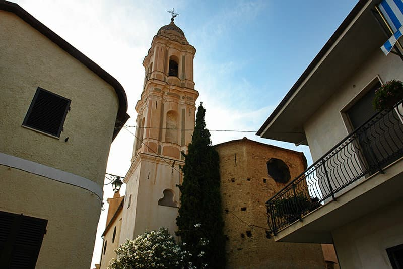 A beautiful church in Riva Ligure