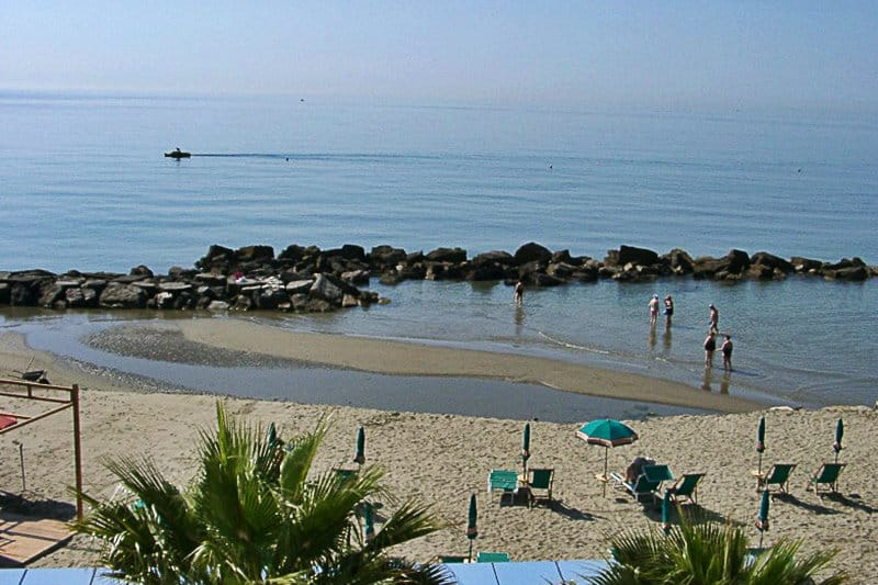 A beautiful sandy beach of San Bartolomeo al Mare
