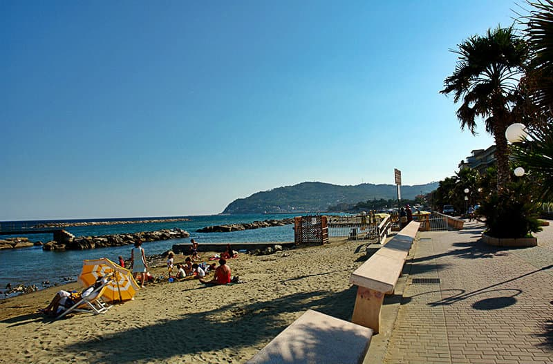 Beach of San Bartolomeo al Mare in Liguria