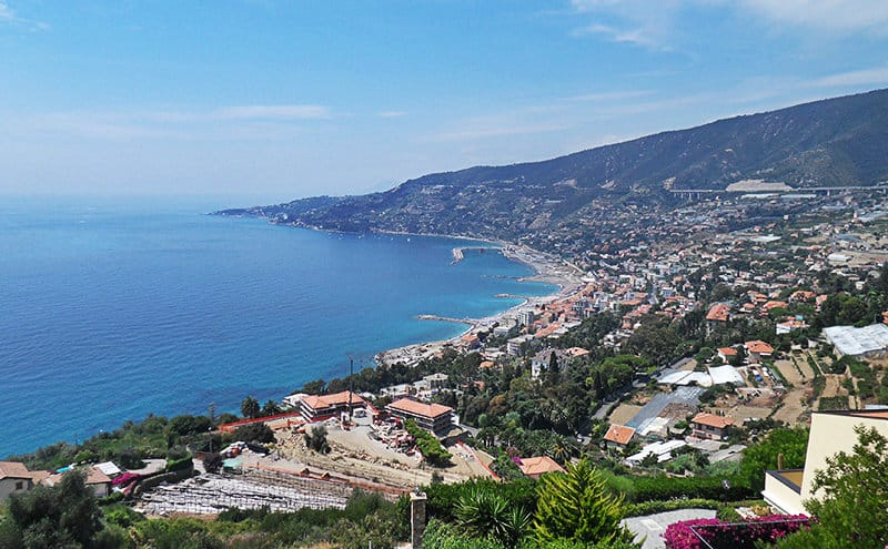Stunning panoramic view of Sanremo, the city of flowers