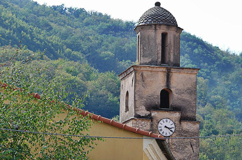 A church tower in Varese Ligure