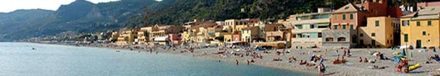 Long sandy beach in Liguria