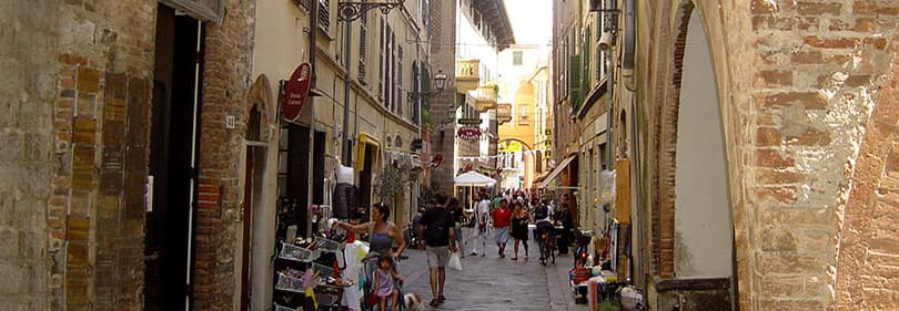 Old town of Albenga in Liguria