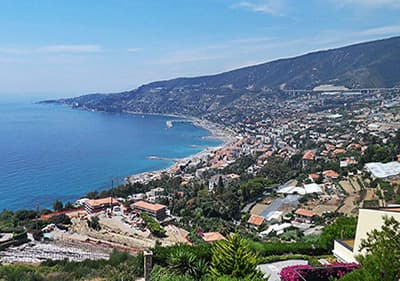 View of Sanremo in Liguria