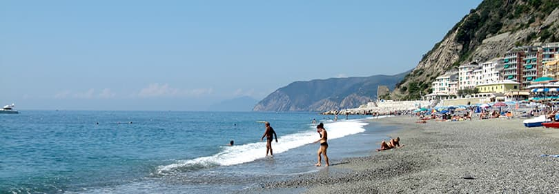 Beach in Moneglia, Liguria