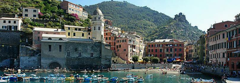 The port of Vernazza in Cinque Terre, Liguria
