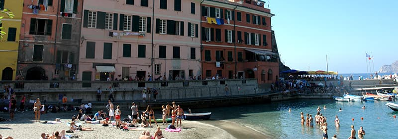 Beach in Vernazza, Liguria