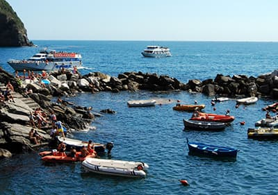 Boat in the sea in Liguria