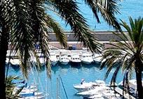 Bordighera port in Liguria