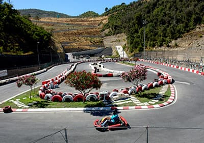 Go-kart race tracks in Liguria