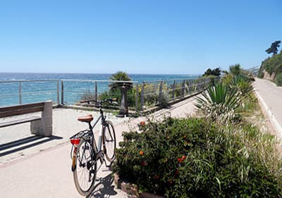 Enjoy Pista Ciclabile, 26 km length longest cycle path in the Mediterranean
