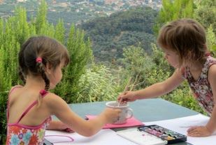 Children in Liguria