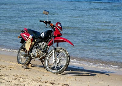 Rent motorcycle or scooter in Liguria and enjoy the coastal views