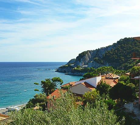 View of Bergeggi city in Liguria