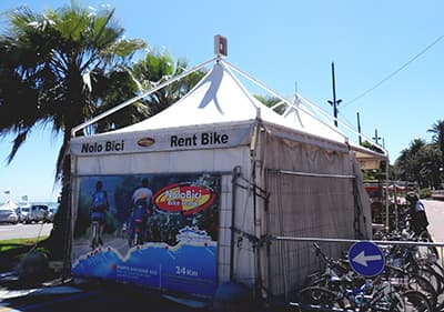 Bike rental point in San Remo