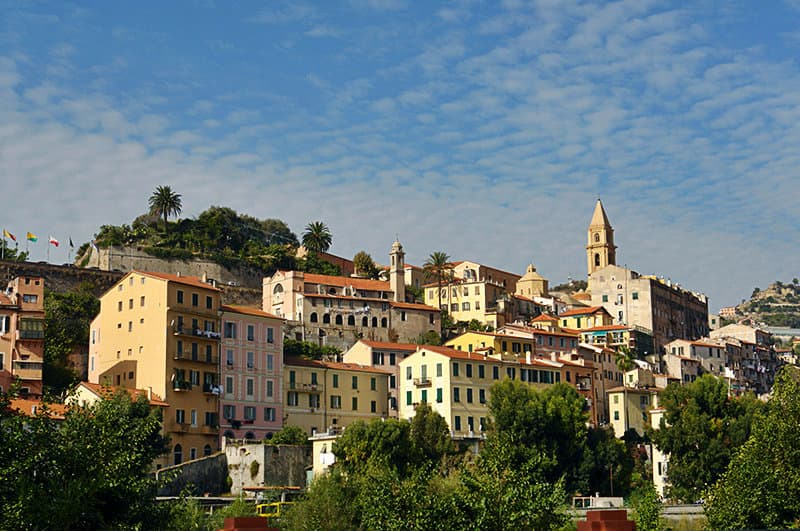 View from a beautiful holiday resort Ventimiglia