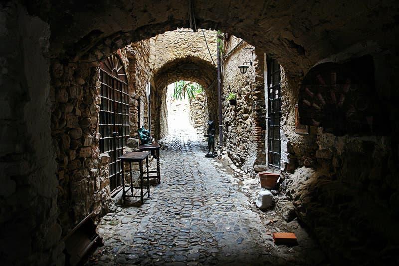 Medieval street of Bussana Vecchia